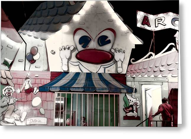 Carnival Fun House Greeting Card by Donna Lee