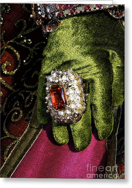 Unique Jewelry Greeting Cards - Carnival Glamour Greeting Card by John Rizzuto