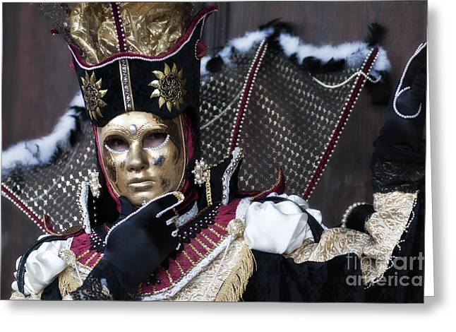 Olia Saunders Greeting Cards - Carnival in Venice 13 Greeting Card by Design Remix