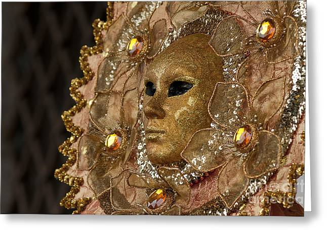 Carnival In Venice 8 Greeting Card by Design Remix