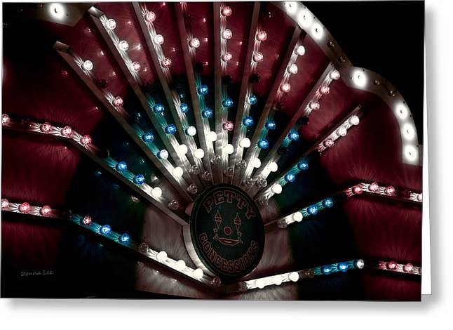 Carnival Lights Greeting Card by Donna Lee