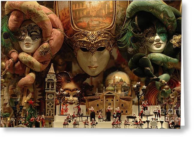 International Travel Greeting Cards - Carnival Masks 2 Greeting Card by Bob Christopher