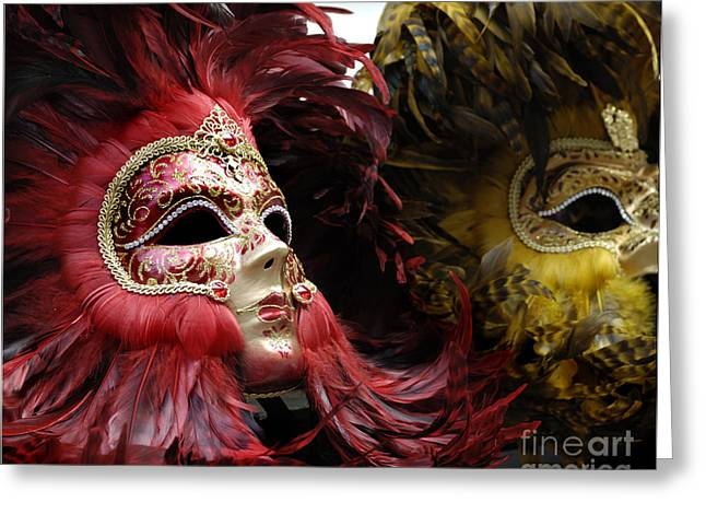 Reason Greeting Cards - Carnival Masks Venice Italy Greeting Card by Bob Christopher