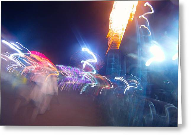 Abstract Rain Greeting Cards - Carnival Nostalgia Greeting Card by Rylee Stearnes