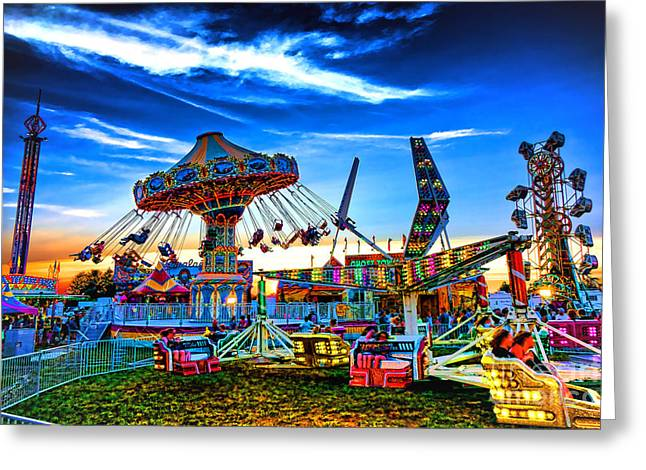 Tilted Greeting Cards - Carnival Greeting Card by Olivier Le Queinec