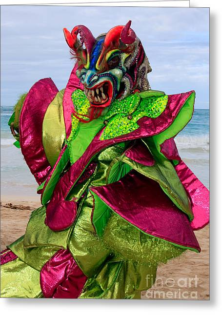Rep Greeting Cards - Carnival on the Beach Greeting Card by Karen Lee Ensley
