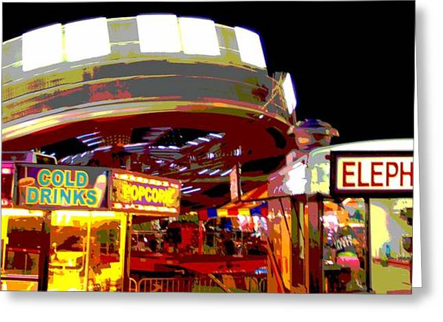 Amusements Greeting Cards - Carnival Poster Greeting Card by Dan Sproul