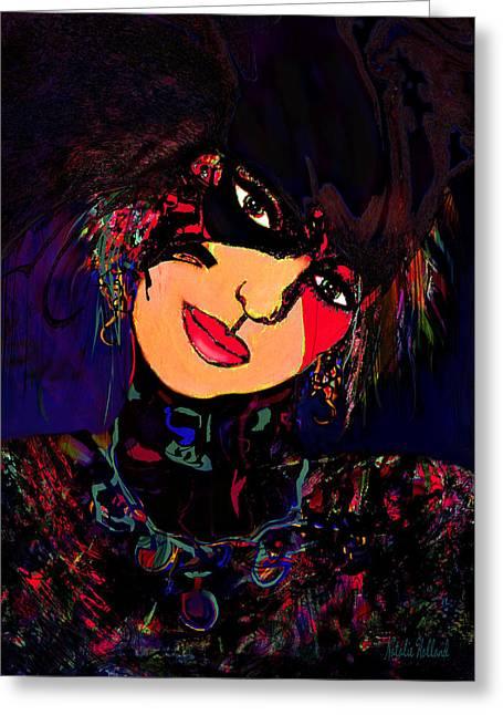 Natalie Holland Art Greeting Cards - Carnival Queen Greeting Card by Natalie Holland