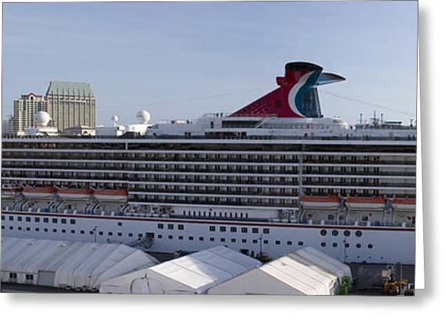 Carnival Spirit Greeting Cards - Carnival Spirit 40 x 12 inch Greeting Card by Mark Baker