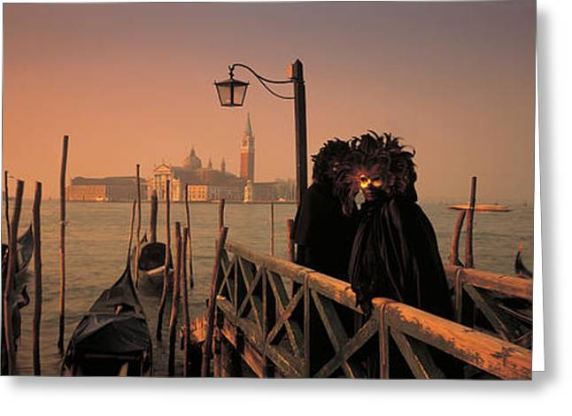 Figure Pose Greeting Cards - Carnival Venice Italy Greeting Card by Panoramic Images