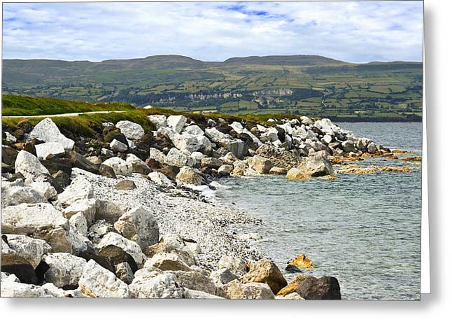 Jane Mcilroy Greeting Cards - Carnlough Bay Antrim Northern Ireland Greeting Card by Jane McIlroy