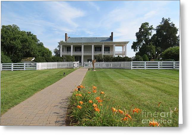 Battle Of Franklin Greeting Cards - Carnton Plantation Greeting Card by Aimee Mouw
