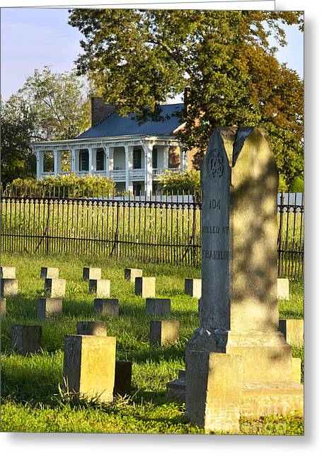 Gravesite Greeting Cards - Carnton Plantation Greeting Card by Brian Jannsen