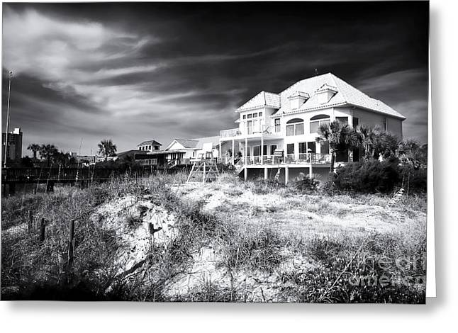 Old School House Greeting Cards - Carolina Beach House Greeting Card by John Rizzuto