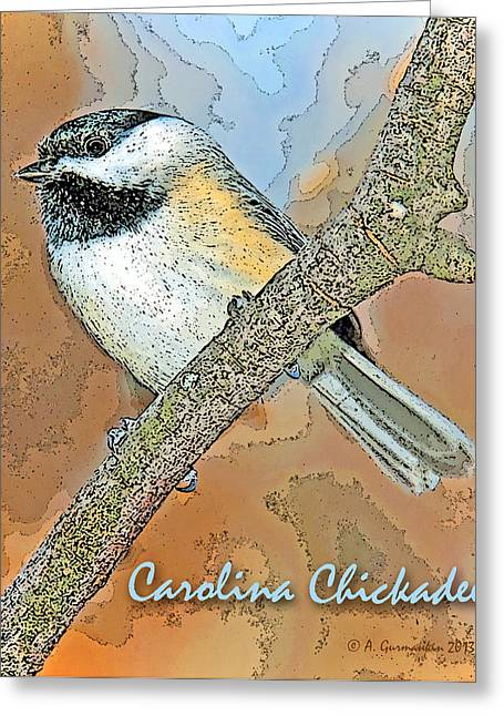 Greeting Card featuring the photograph Carolina Chickadee Digital Image by A Gurmankin