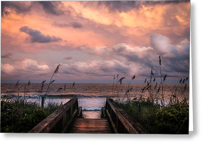 Stormy Weather Greeting Cards - Carolina Dreams Greeting Card by Karen Wiles