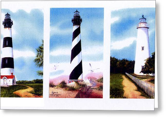 Cape Lookout Greeting Cards - Carolina Heights Greeting Card by Larry Johnson