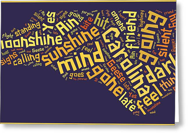 Charlotte Digital Art Greeting Cards - Carolina In My Mind 3 Greeting Card by Paulette B Wright