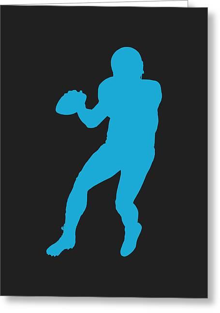 Newton Greeting Cards - Carolina Panthers Cam Newton Greeting Card by Joe Hamilton