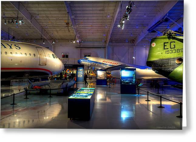 Charlotte Museums Greeting Cards - Carolinas Aviation Museum Greeting Card by Maurice Smith