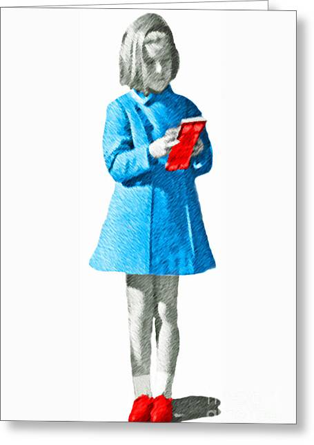 Jackie Kennedy Onassis Greeting Cards - Caroline Kennedy Greeting Card by Jost Houk