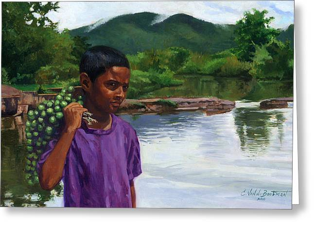 African American Artist Greeting Cards - Caroni Chennette Greeting Card by Colin Bootman