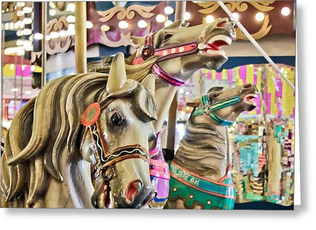 Original Photographs Greeting Cards - Carousel at Casino Pier Greeting Card by Colleen Kammerer
