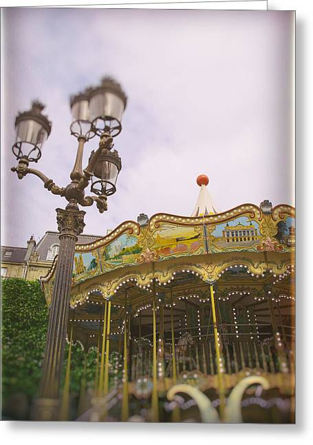 Whirligig Greeting Cards - Carousel Dreams Greeting Card by Nomad Art And  Design