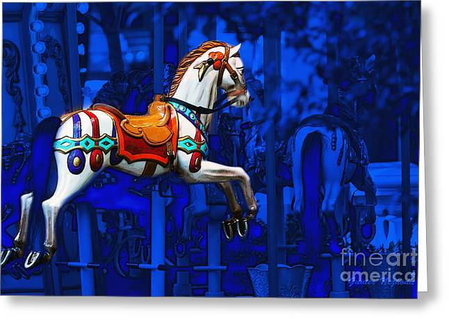 Gunter Nezhoda Greeting Cards - Carousel Horse Greeting Card by Gunter Nezhoda