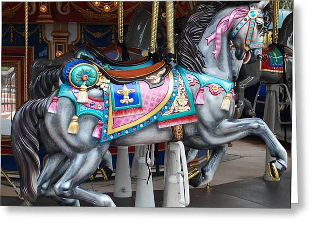 Carnie Greeting Cards - Carousel Horse Greeting Card by Rob Hans