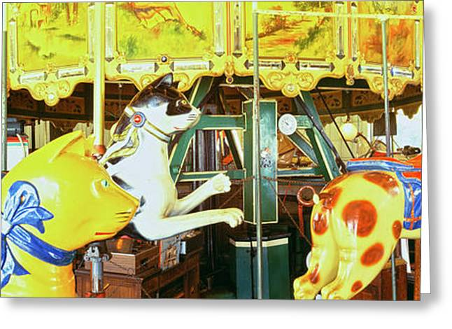Carousel In A Zoo, San Diego Zoo Greeting Card by Panoramic Images