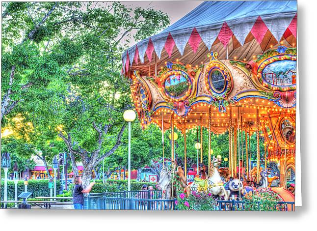 Amusements Greeting Cards - Carousel in Vacaville Greeting Card by Fermin Gallardo-Chang