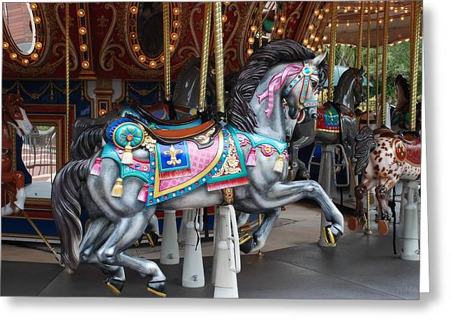 Carnie Greeting Cards - Carousel Greeting Card by Rob Hans