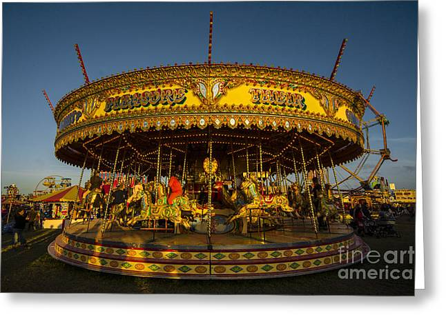 Galloper Greeting Cards - Carousel  Greeting Card by Rob Hawkins