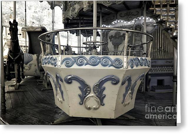 Ir Photography Greeting Cards - Carousel Tea Cup Greeting Card by John Rizzuto