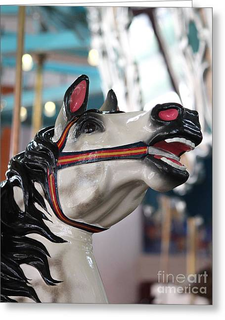 Carousel Wild Horse Greeting Card by Robert Yaeger