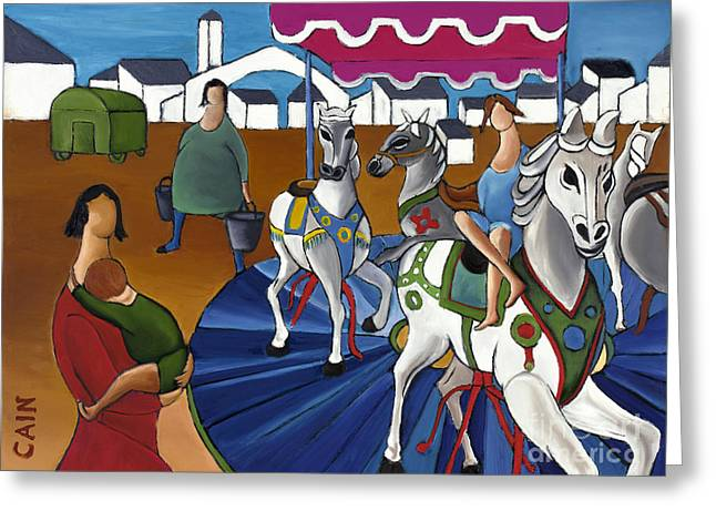 William Cain Greeting Cards - Carousel Greeting Card by William Cain