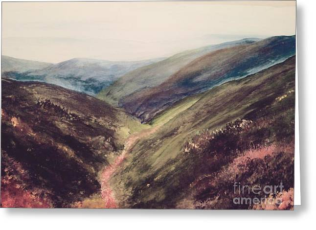 Carpathian Valleys Greeting Card by Trilby Cole