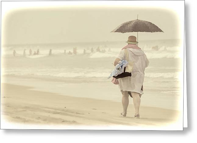 California Beach Art Greeting Cards - Carpe Diem Greeting Card by Kim Swanson