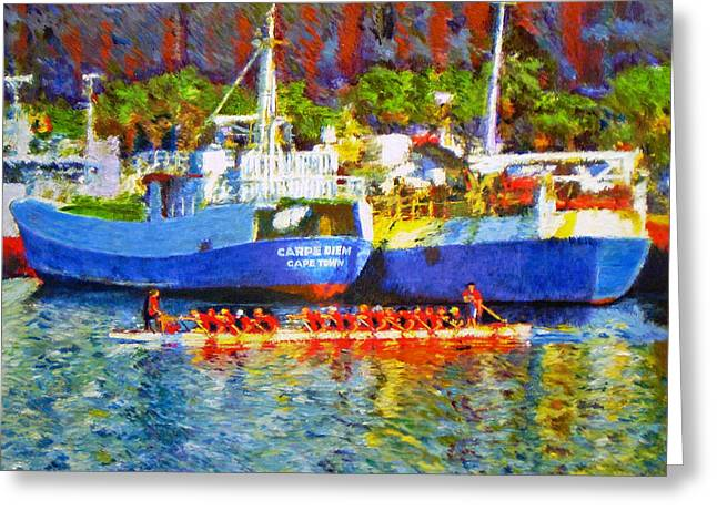 Cape Town Paintings Greeting Cards - Carpe Diem Greeting Card by Michael Durst