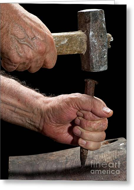 Handwork Greeting Cards - Carpenter Greeting Card by Sinisa Botas