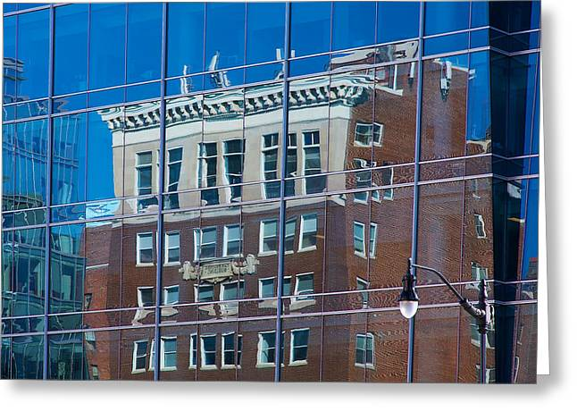 Beige Abstract Greeting Cards - Carpenters Building Greeting Card by Stuart Litoff