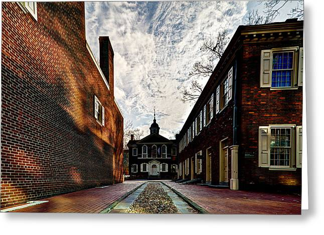 Independance Hall Greeting Cards - Carpenters Hall Greeting Card by Marty Straub