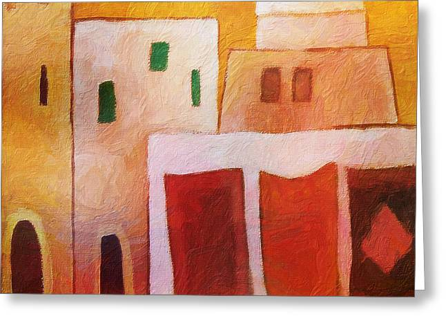 Carpet Town Greeting Card by Lutz Baar