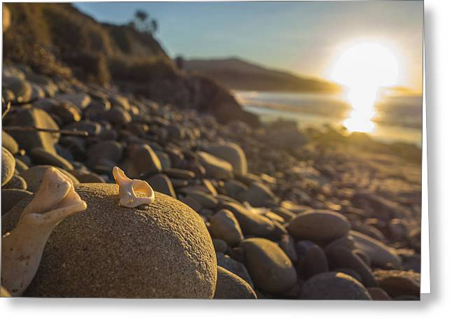 Santa Barbara Greeting Cards - Carpinteria Sunrise Greeting Card by Jeremy Jensen