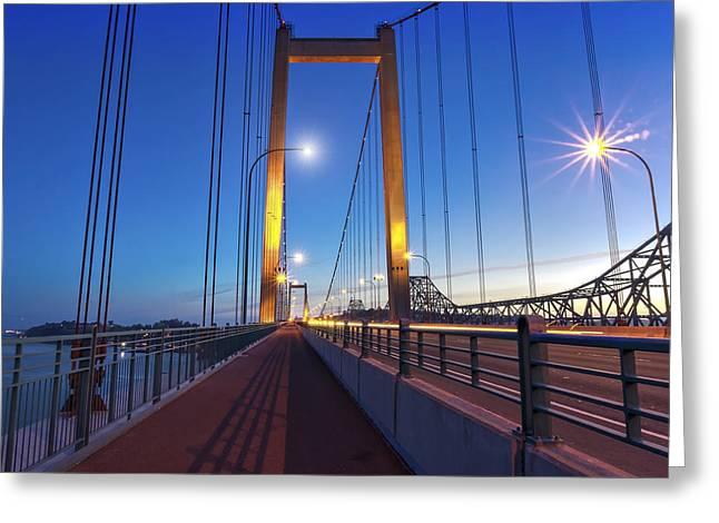 Phil Clark Photographs Greeting Cards - Carquinez Bridge II Greeting Card by Phil Clark