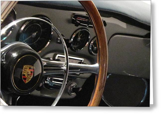 Glove Box Greeting Cards - Carrera Steering Greeting Card by Kelly Mezzapelle