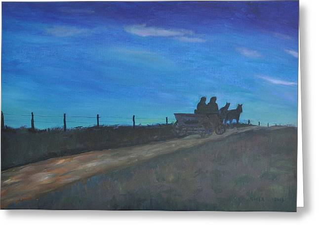 Caballo. Fence Greeting Cards - Carreta  Greeting Card by Asher  Topel