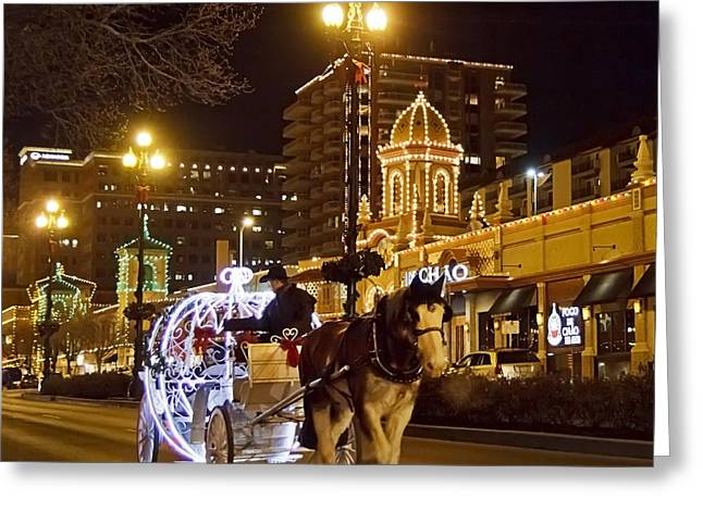 Carriage Ride At The Plaza Greeting Card by Dennis Hedberg