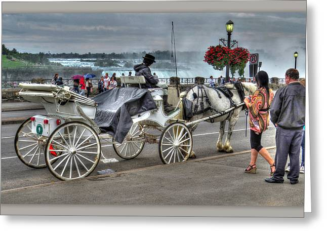Niagara Carriage Greeting Cards - Carriage Ride Greeting Card by Cindy Haggerty